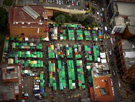 Green Rooftops by Rodrigo Bernal small Postcard Winners: Green Rooftops