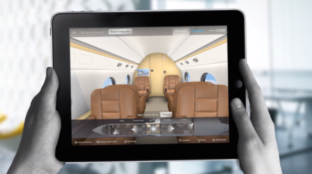 Virtual Reality makes sense as the next step for Gulfstream's DesignBook